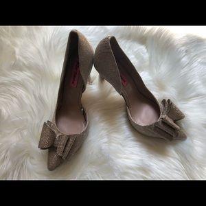 Sparkling metallic Betsy Johnson heels